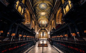 Wallpaper England, London, architecture, religion, St. Paul's Cathedral, the nave