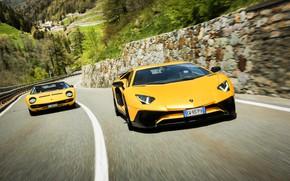 Picture Auto, Lamborghini, Machine, 1971, Lights, Car, LP700-4, Aventador, Lamborghini Aventador, Supercar, Lamborghini Miura, P400, SVJ, …