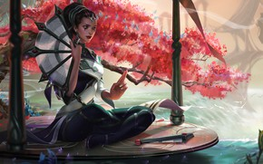 Wallpaper Xi Zhang, Karma, League of Legends, art, LoL