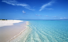 Picture beach, clear water, the ocean, white sand