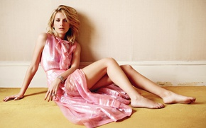 Picture decoration, pose, makeup, dress, actress, hairstyle, blonde, legs, sitting, on the floor, photoshoot, the wall, …