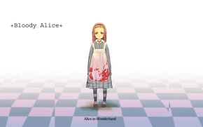 Picture void, loneliness, blood, spot, Alice in Wonderland, baby, chess Board, Alice, madness returns, Madness Return