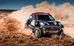 Picture Mini, Black, Dust, Sport, Speed, Turn, Race, Skid, Rally, SUV, Rally, X-Raid Team, MINI Cooper, …