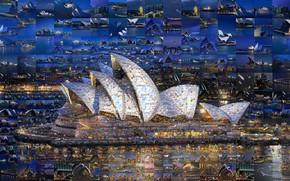 Picture collage, Australia, Sydney, Opera house