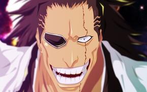 Picture sword, game, Bleach, devil, long hair, war, anime, katana, man, fight, face, captain, asian, manga, …