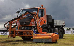 Picture Mercedes-Benz, truck, manipulator, machinery, Unimog, U20