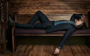 Wallpaper Norman Reedus, costume, photoshoot, Roger Erickson, shoes, 2016, resting, jacket, actor, pants, Cartier, Norman Reedus, ...
