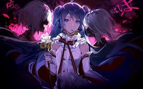 Picture girl, darkness, Vocaloid, Hatsune Miku