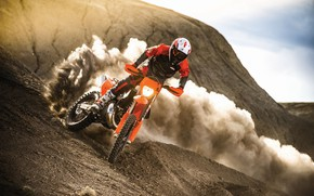 Wallpaper Dust, Sport, Speed, Skid, Motorcycle, Racer, Moto, KTM, Bike, Moto, Motorbike