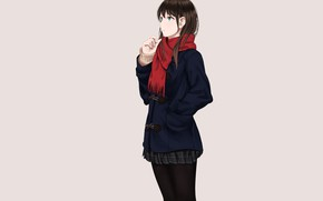 Picture girl, background, anime, art