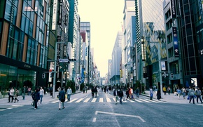 Picture Tokyo, Japan, street, people, cityscape, everyday life, urban scene