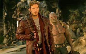 Picture cinema, alien, man, Marvel, movie, Dave Batista, hero, film, UFO, vegetation, strong, muscular, yuusha, bald, …