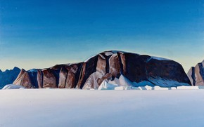Picture picture, Rockwell Kent, Rockwell Kent, The Coast Of Greenland, mountains, snow, nature, rocks, landscape