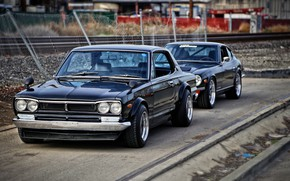 Picture Auto, Black, Machine, Classic, Nissan, Nissan, Car, 2000, Skyline, Nissan Skyline, 2000GT, Japanese, Two, 2000GT-R, …