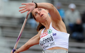 Picture Blonde, numbers, javelin throw