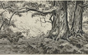 Picture 1920, Charles Ephraim Burchfield, Chestnut Trees