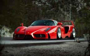 Picture Ferrari, Red, Enzo, Tuning, Future, Supercar, by Khyzyl Saleem