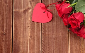 Picture heart, bouquet, red, love, heart, romantic, valentine's day, roses, red roses