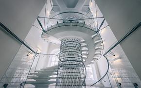 Wallpaper screw, London, England, Somerset house, ladder