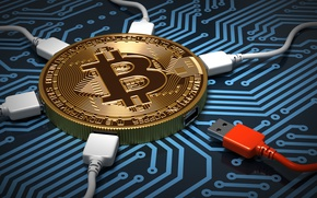 Wallpaper center, usb controllers, wallpaper., connection, cryptocurrency, bitcoin, track, processor, fee, bitcoin, gold, money, coin, chip, ...