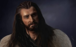Picture art, Painting, dwarf, The Hobbit, Thorin II Oakenshield, the king of people of Durin