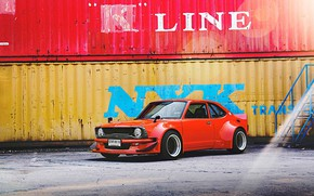 Picture Toyota, 1970, custom, Corolla, KE25, mesh wheels, widebody kit