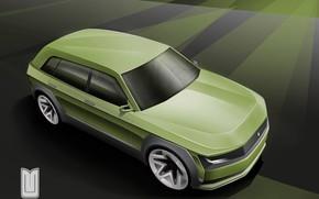 Picture Auto, The concept, The hood, Car, Car, Art, Auto, Muscovite, Moskvich 2020, Muscovite 2020