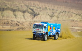 Picture The sky, Sand, Nature, Sport, Speed, Race, The way, Master, Beauty, Russia, Kamaz, Rally, Rally, …
