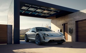 Picture Concept, Porsche, front view, 2018, Mission E, Cross Turismo