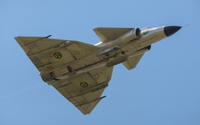 Picture flight, fighter, You can, AJS-37 Viggen