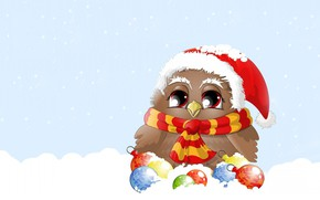 Picture winter, balls, snow, mood, holiday, vector, art, New year, children's, Christmas toys, sovushka