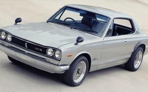 Picture Auto, Machine, Grey, Silver, Nissan, Nissan, Car, 2000, Skyline, Nissan Skyline, 2000GT, Japanese, 2000GT-R, 2000 …