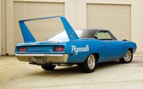 Picture Blue, 1970, Plymouth, Back, Muscle car, Superbird