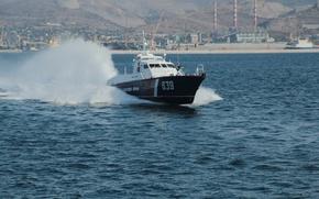 Picture boat, Novorossiysk, The black sea, guard, on the go, border, duty