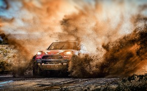 Picture Water, Auto, Mini, Sport, Machine, Speed, Race, Dirt, Squirt, Lights, Car, Rally, SUV, Rally, The …