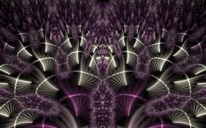 Wallpaper purple, fractal, pattern, color