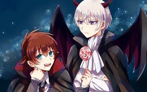 Picture anime, art, guys, costumes, Halloween, Kakumeiki Valvrave