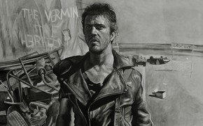 Picture figure, Mel Gibson, Road warrior, Mel Gibson, Mad Max 2, Mad Max 2