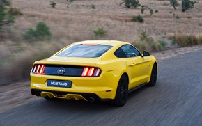 Picture Ford Mustang, Speed, Fastback, Road
