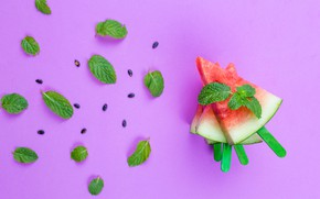 Picture Watermelon, mint, mint, Watermelon, cloves seeds, slices seeds