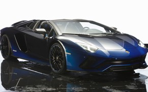 Wallpaper water, Lamborghini, background, machine, car, blue