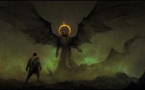 Picture demon, devil, wings, man, hood, oni, Fake Angels, ageln