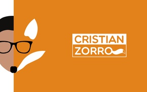 Picture Fox, Adobe, fox, minimalism, design, awesome, orange, glasses, cool, high resolution, hipster, hipster glasses