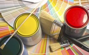Picture colors, paint, cans