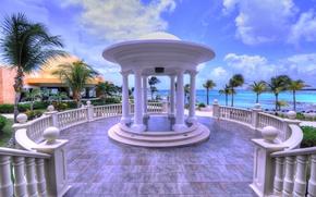 Picture sea, stay, Mexico, the hotel, resort, gazebo, The Riviera Maya, Barcelo Maya Palace