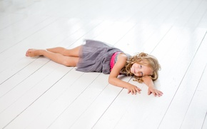 Picture child, dress, girl, lies, photoshoot, child