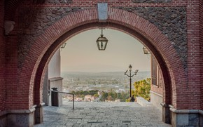 Picture home, lantern, arch