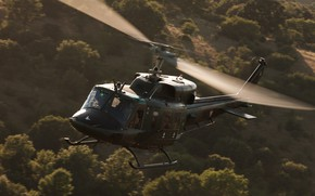 Picture twin-engine, multi-purpose helicopter, Bell 212