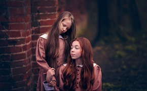 Picture hair, girls, bokeh, dresses, hairstyles, queens of silence