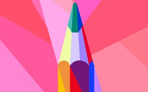 Picture vector, pencil, drawing, stylus, low poly